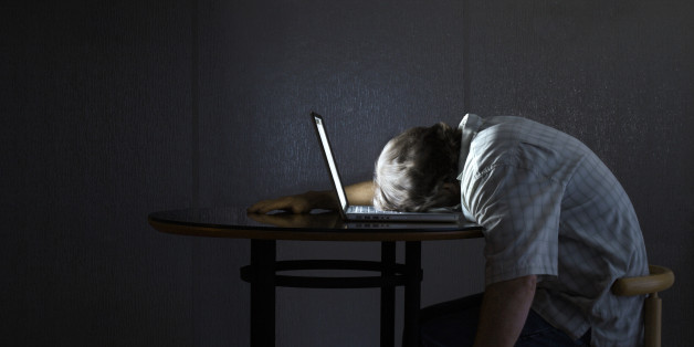 Person Asleep at Laptop computer